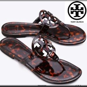 Tory Burch MILLER SANDAL In Tortoise Shell, new
